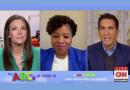 From left, CNN's Erica Hill, Penn GSE graduate Sundai Riggins, and CNN's Sanjay Gupta, appear on ABCs of COVID-19: A CNN/Sesame Street Town Hall for Kids and Parents. (CNN)