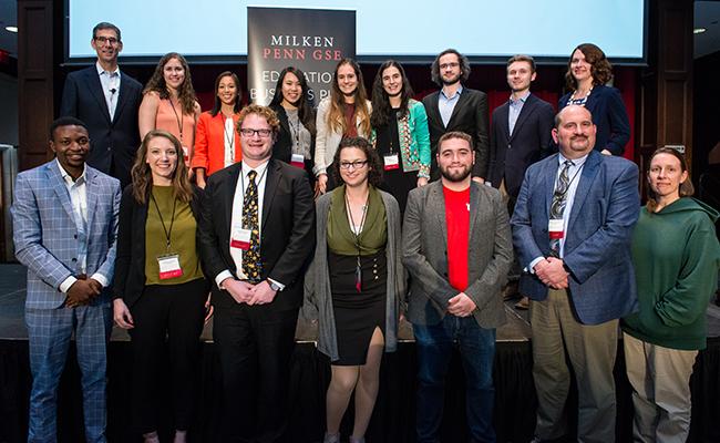 Education Business Plan Competition participants.