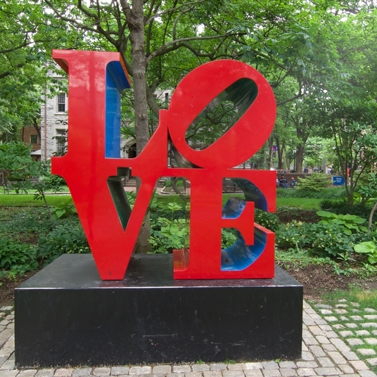 Penn's Campus LOVE Statue