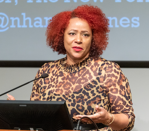 Nikole Hannah-Jones speaks at Penn GSE/Penn Law, Fall 2019