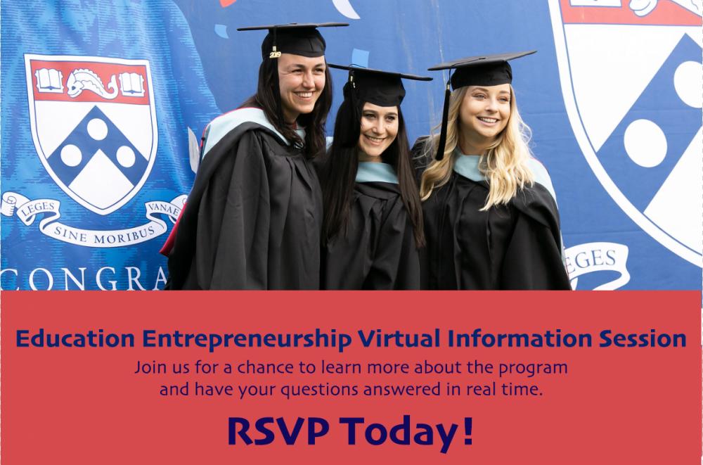 Education Entrepreneurship Program Virtual Info Session