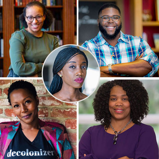 Collage of Past Speakers from Penn GSE's Visiting Faculty Scholars of Color Series