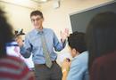 Jonathan Zimmerman teaching a class.