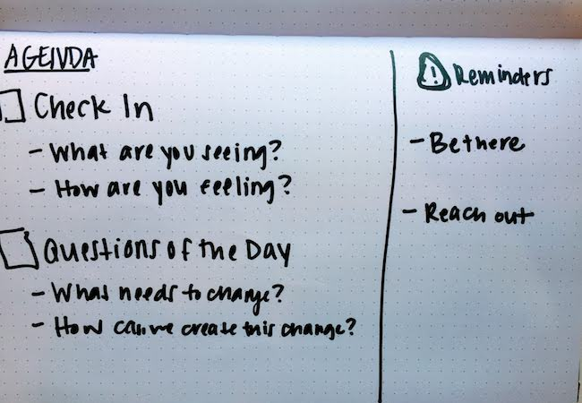 A teacher's checklist for a class discussion on protests about racial violence.