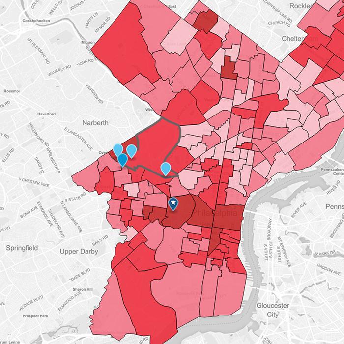 Philadelphia Heat Map