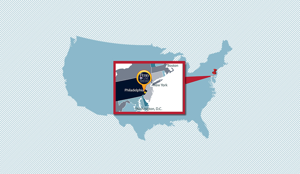 Penn GSE on a map of the USA.
