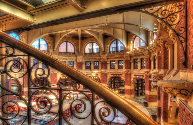 Ornate stairwell at Penn