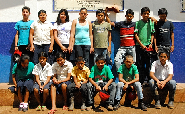 Students in Nicaragua.