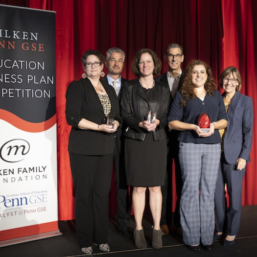 Winners of the Milken-Penn GSE Education Business Plan Competition