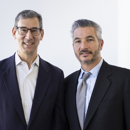 Catalyst @ Penn GSE Executive Director Michael Golden, left, and John Gamba, Entrepreneur-in-Residence and Director of Innovative Programs at Catalyst.