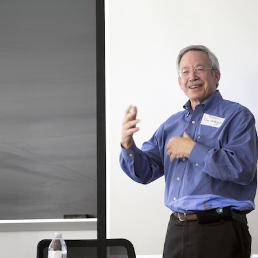 Daniel Wagner teaching a class.