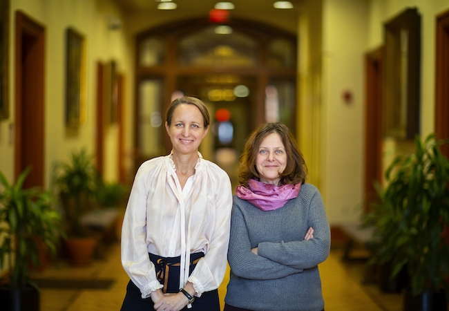 Sophie Rosenfeld, professor of history in the School of Arts and Sciences, left, and Sigal Ben-Porath, professor of education in the Graduate School of Education.