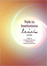 Talk in Institutions: A Lansi Volume Cover