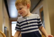 A boy at play.