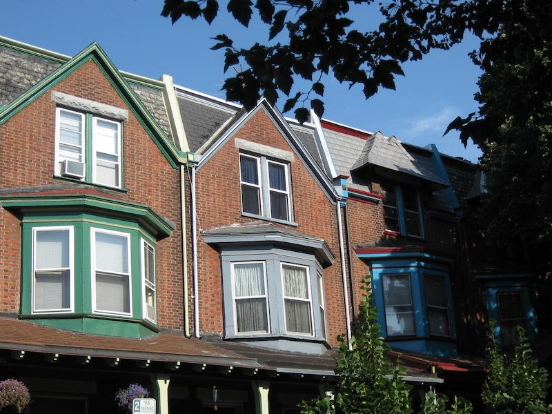 Row houses in West Philadelphia.