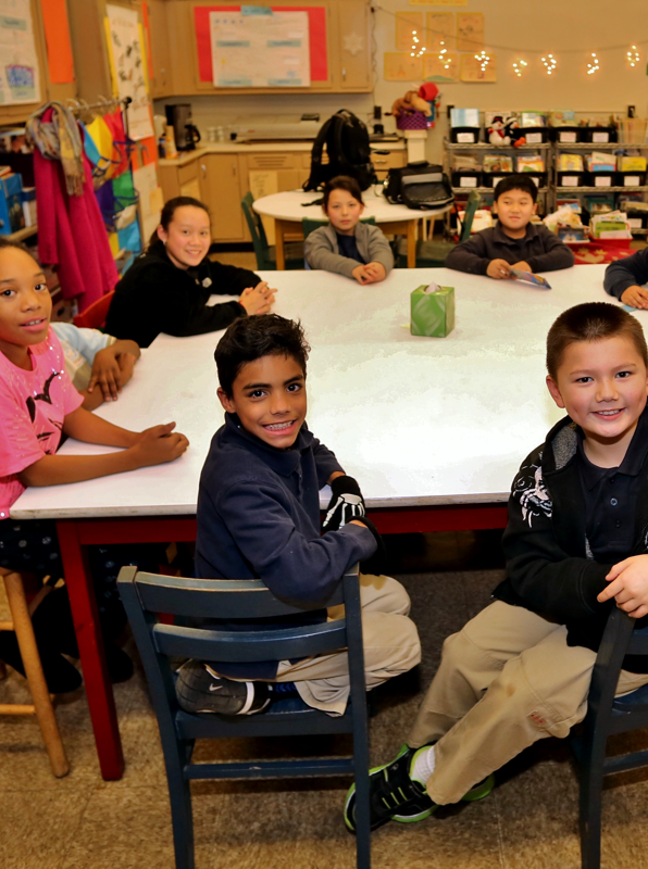 Group of children in a Philadelphia classroom