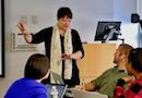 Yasmin Kafai teaches a class