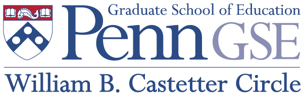 "Penn GSE logo with ""William B. Castetter Circle"" written beneath it"