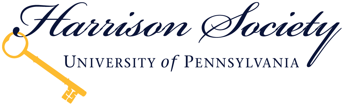 Logo for the Harrison Society at the University of Pennsylvania, featuring a gold key