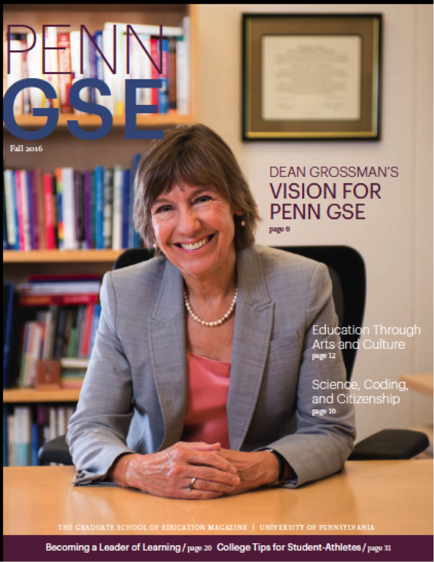 Penn GSE Magazine Cover Fall 2016