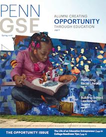Penn GSE Magazine Cover Spring 2016