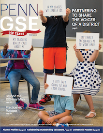 Penn GSE Magazine Cover Fall 2015