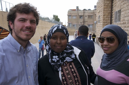 Colin with 2 women in Amman